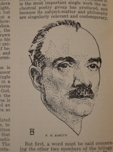 Henri Martin Barzun sketched in the Columbia Varsity